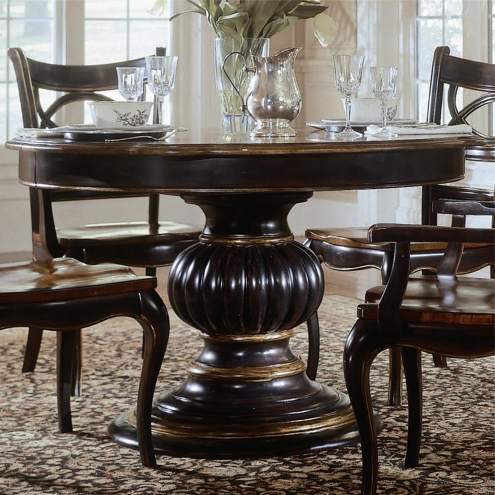 2017 Hooker Furniture Preston Ridge Pedestal Dining Table – Ahfa – Dining In Preston 66 Inch Tv Stands (View 10 of 20)