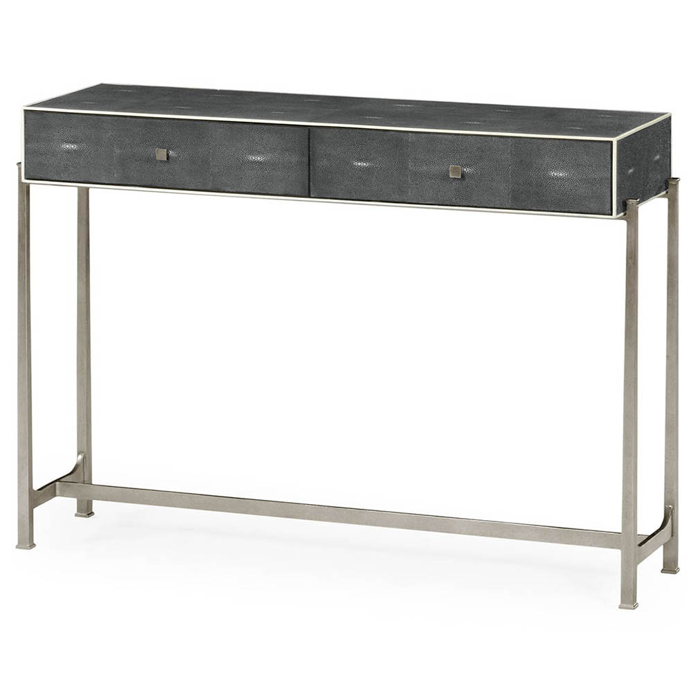 2017 Jasper Shagreen Console Table – Luxe Home Company Within Grey Shagreen Media Console Tables (Gallery 4 of 20)
