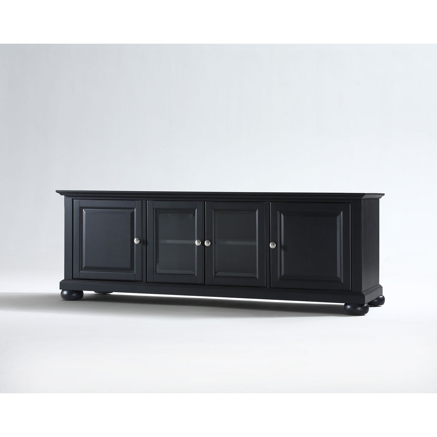 2017 Low Long Tv Stands Regarding Crosley Furniture Alexandria 60 Inch Low Profile Tv Stand In Black (Gallery 5 of 20)