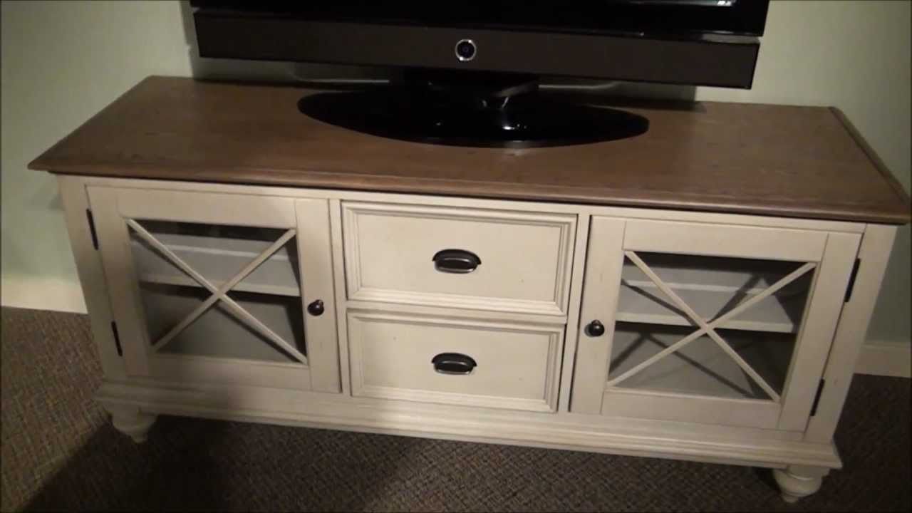 2017 Painted Tv Stands For Coventry Tv Stand In Two Tone Finishriverside Furniture – Youtube (View 2 of 20)