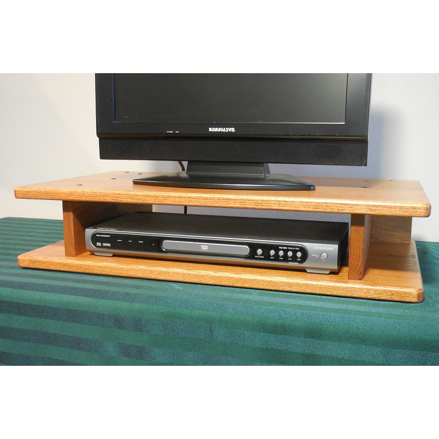 2017 Tv Riser Stand With Flat Screen Solid Oak Tv Riser – The Oak Furniture Shop (Gallery 1 of 20)