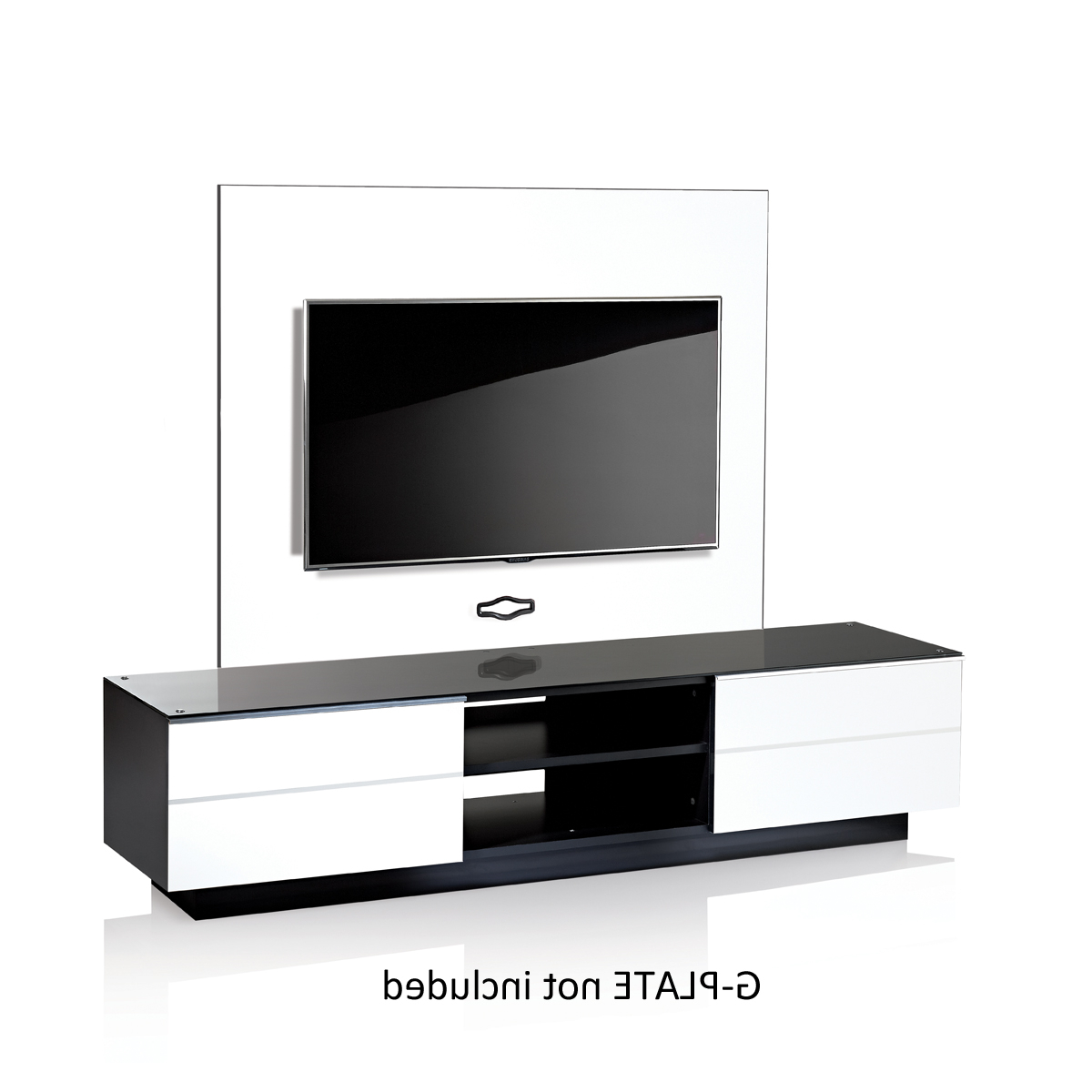 2017 White G S 180 Wh Tv Stand 180Cm In White And Black Tv Stands (Gallery 9 of 20)