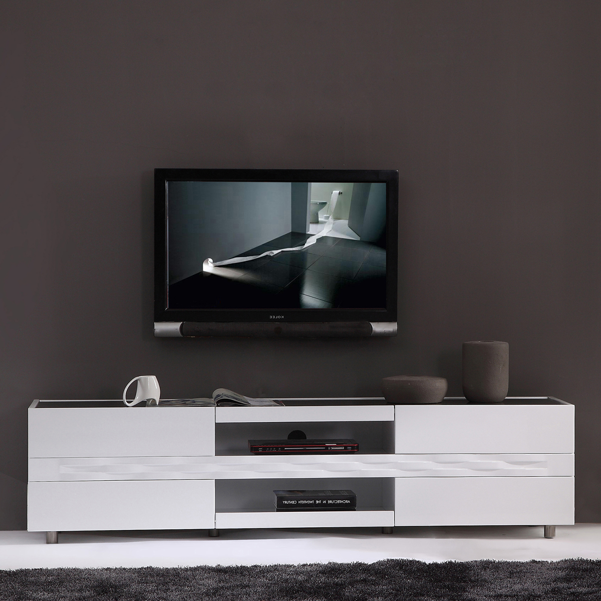 2017 White Glass Tv Stands Pertaining To Glass Tv Stands For Flat Screens Elegant Top 15 Of White Modern (View 1 of 20)