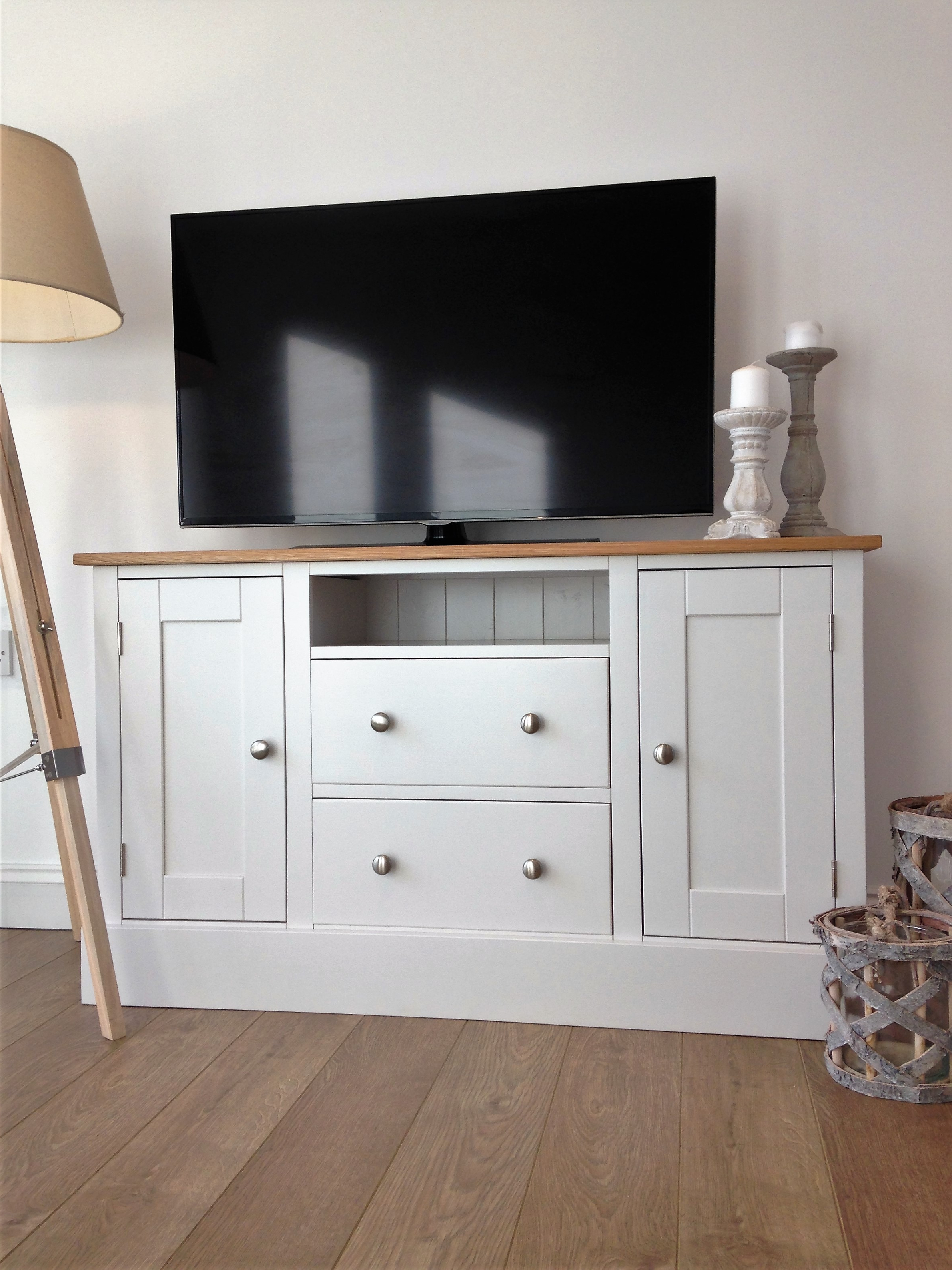 2017 White Painted Tv Cabinets For 4Ft Painted Tv Cabinet Made Of Solid Oak & Pine – Nest At Number 20 (Gallery 6 of 20)