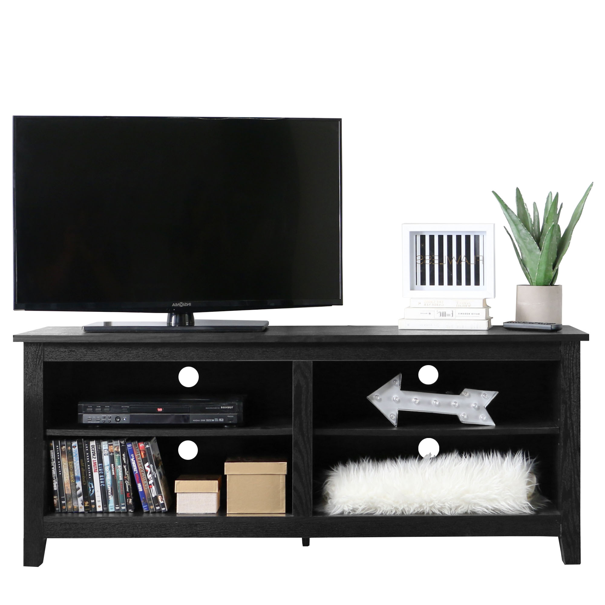 """2017 Wood Tv Stand For Tvs Up To 60"""", Multiple Finishes – Walmart With Regard To Rowan 45 Inch Tv Stands (Gallery 9 of 20)"""