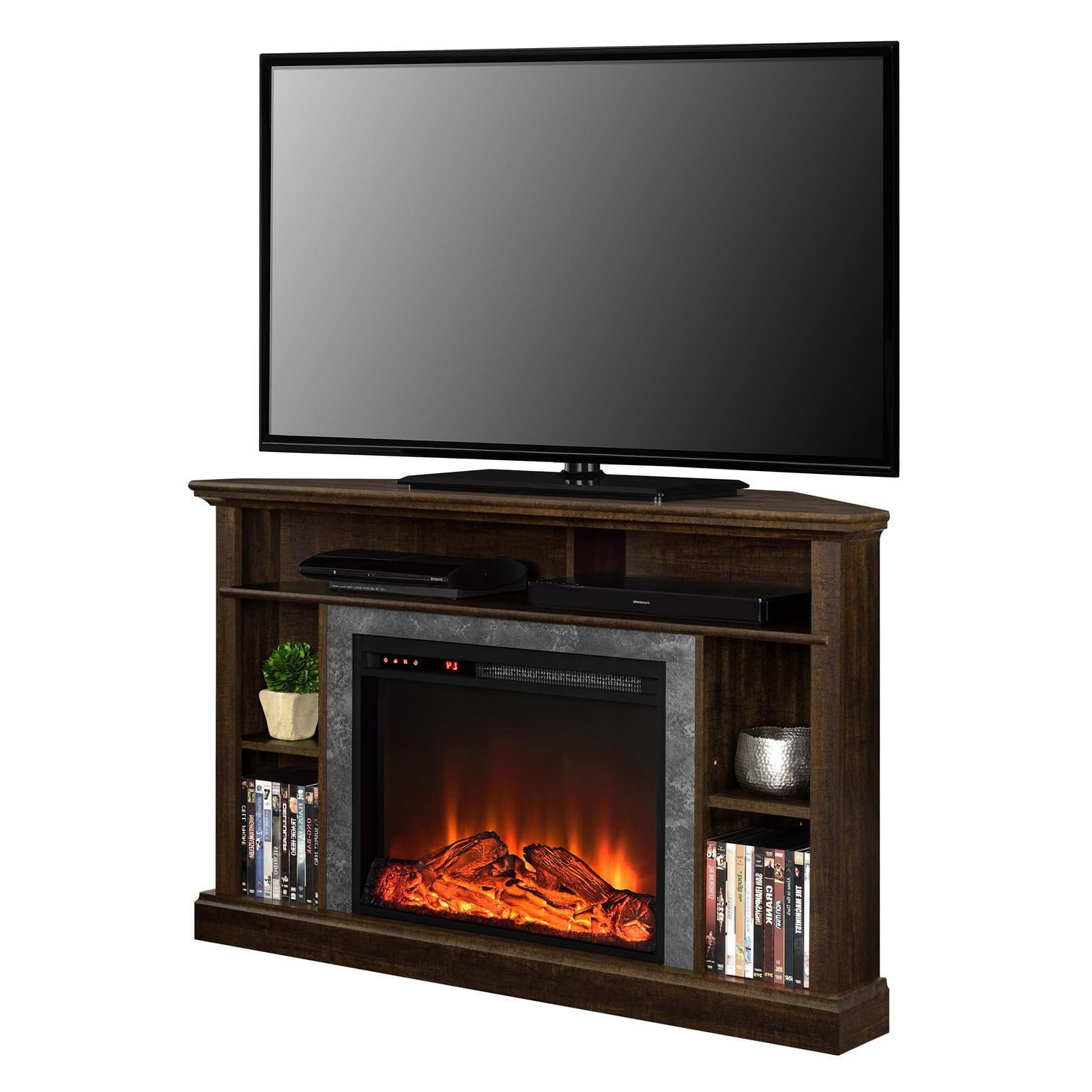 2018 50 Inch Fireplace Tv Stands With Dorel Overland Electric Fireplace Corner Tv Stand (View 1 of 20)