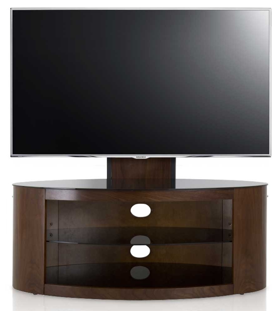 2018 Avf Buckingham Walnut Cantilever Tv Stand Intended For Avf Tv Stands (View 5 of 20)