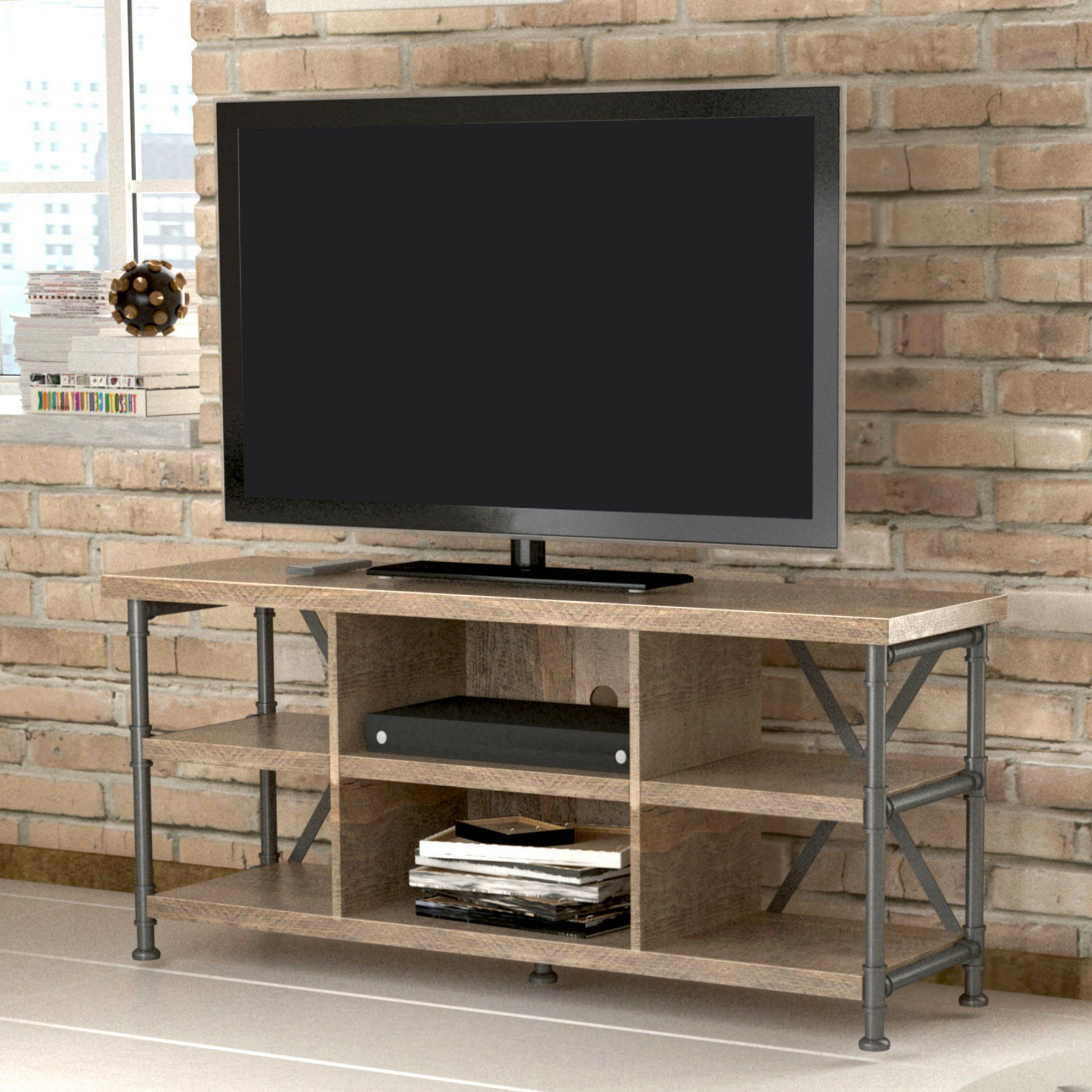 2018 Bello Irondale 54 In. Tv Stand – Autumn Driftwood – Tc54 6096 Pd04 Throughout Kilian Grey 60 Inch Tv Stands (Gallery 3 of 20)