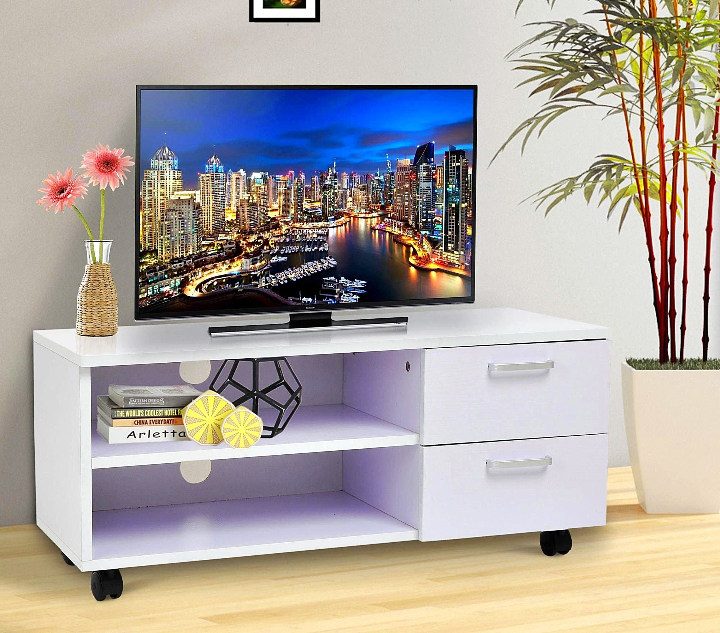 2018 Best Buy Tv Stands On Wheels Small Stand – Buyouapp For Small Tv Stands On Wheels (Gallery 11 of 20)