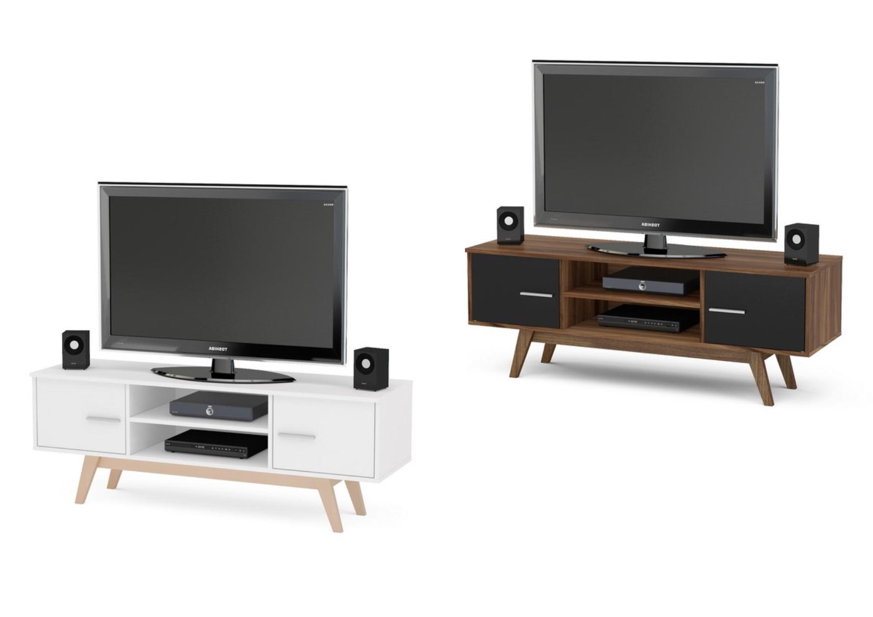2018 Birlea Shard Gloss Tv Units – Cabinet & Shelves – Wooden Legs Regarding Tv Units Black (View 1 of 20)