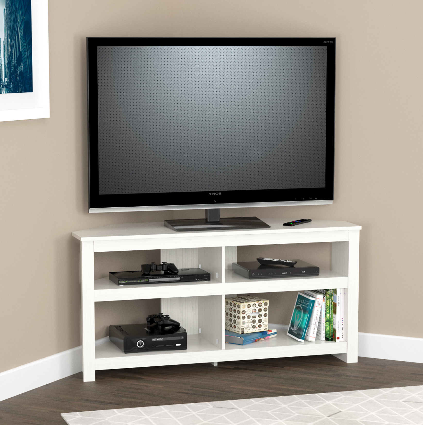 2018 Black Corner Tv Stands For Tvs Up To 60 Regarding Corner Tv Stands You'll Love (Gallery 2 of 20)