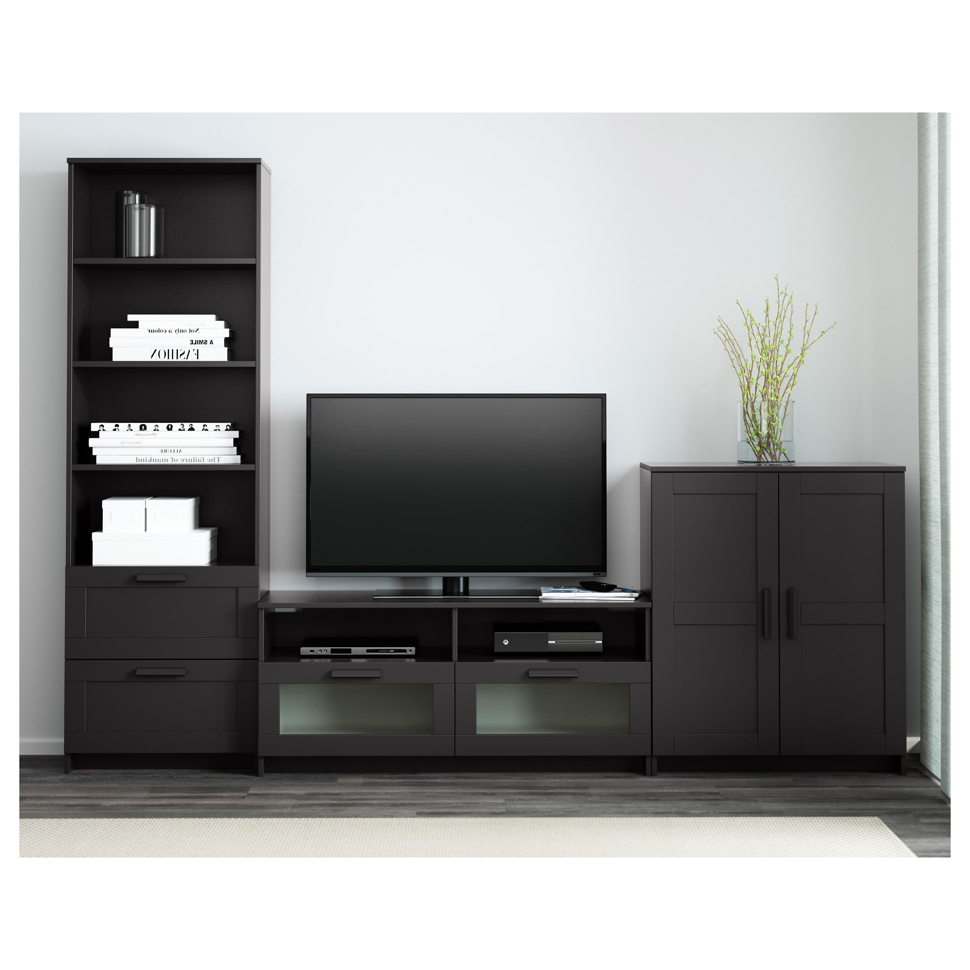 2018 Black Tv Cabinets With Drawers Intended For Tv Stands & Tv Units (Gallery 1 of 20)