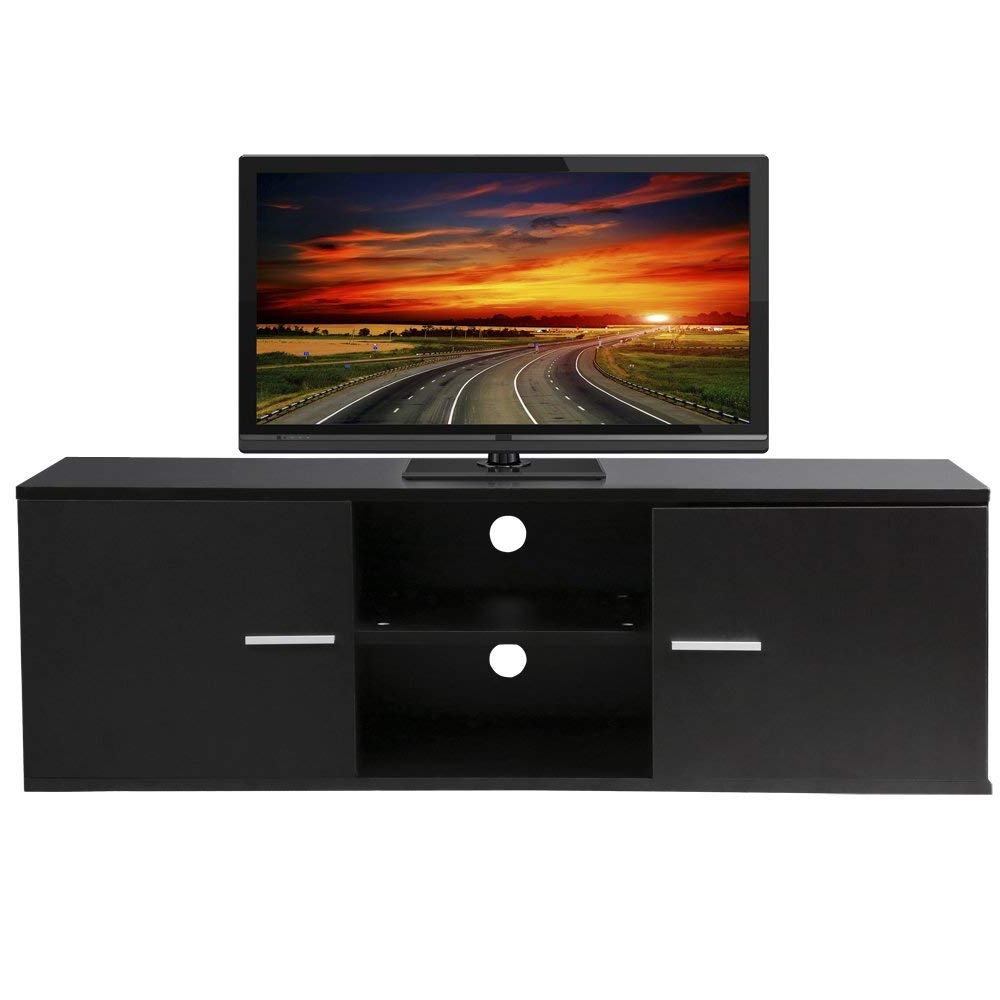 2018 Casey Umber 54 Inch Tv Stands With Amazon: Wood Tv Stand Storage Console, Tv Component Bench, Econ (View 1 of 20)