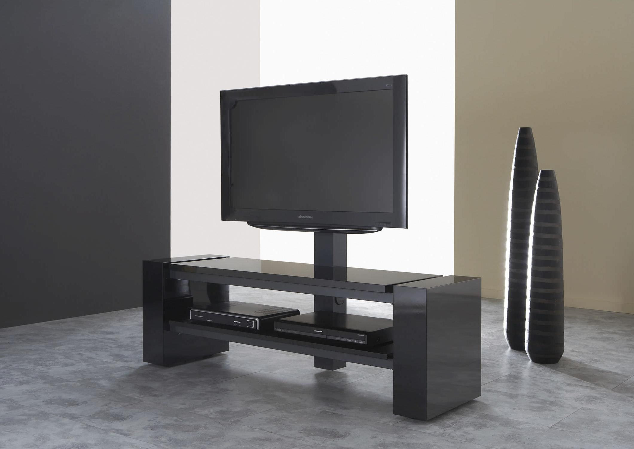 2018 Contemporary Tv Cabinets For Flat Screens Intended For Contemporary Tv Cabinet / With Screen Lift / Wooden / Lacquered Wood (Gallery 20 of 20)