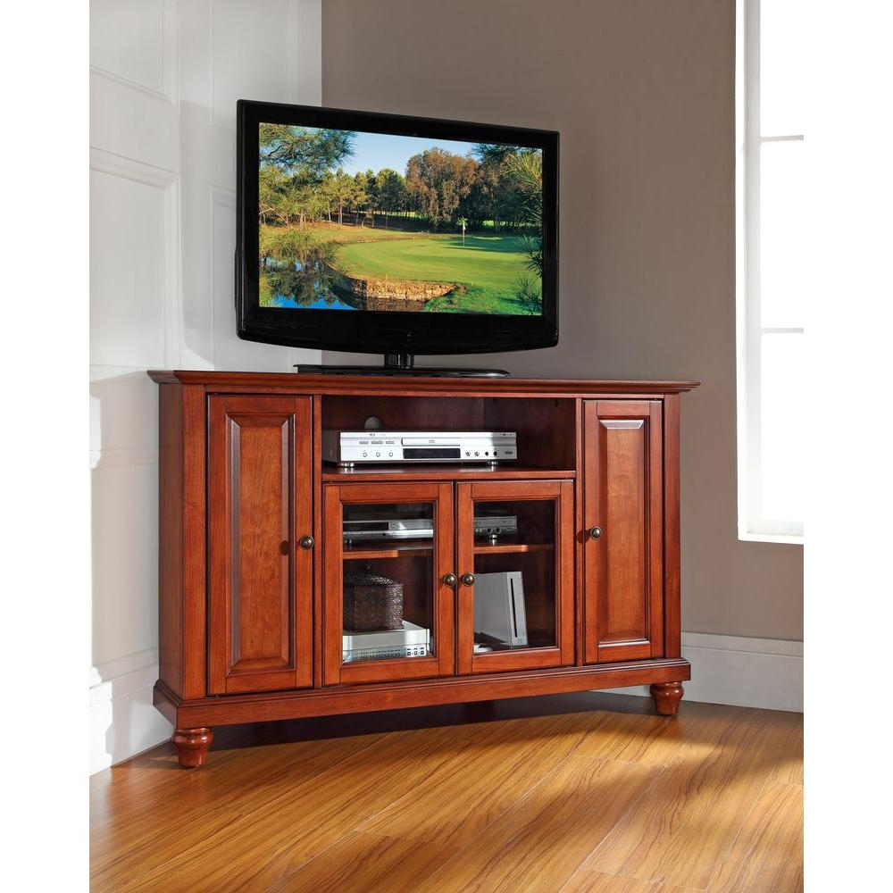 2018 Crosley Cambridge Cherry Entertainment Center Kf10006Dch – The Home Inside Cherry Tv Stands (Gallery 10 of 20)