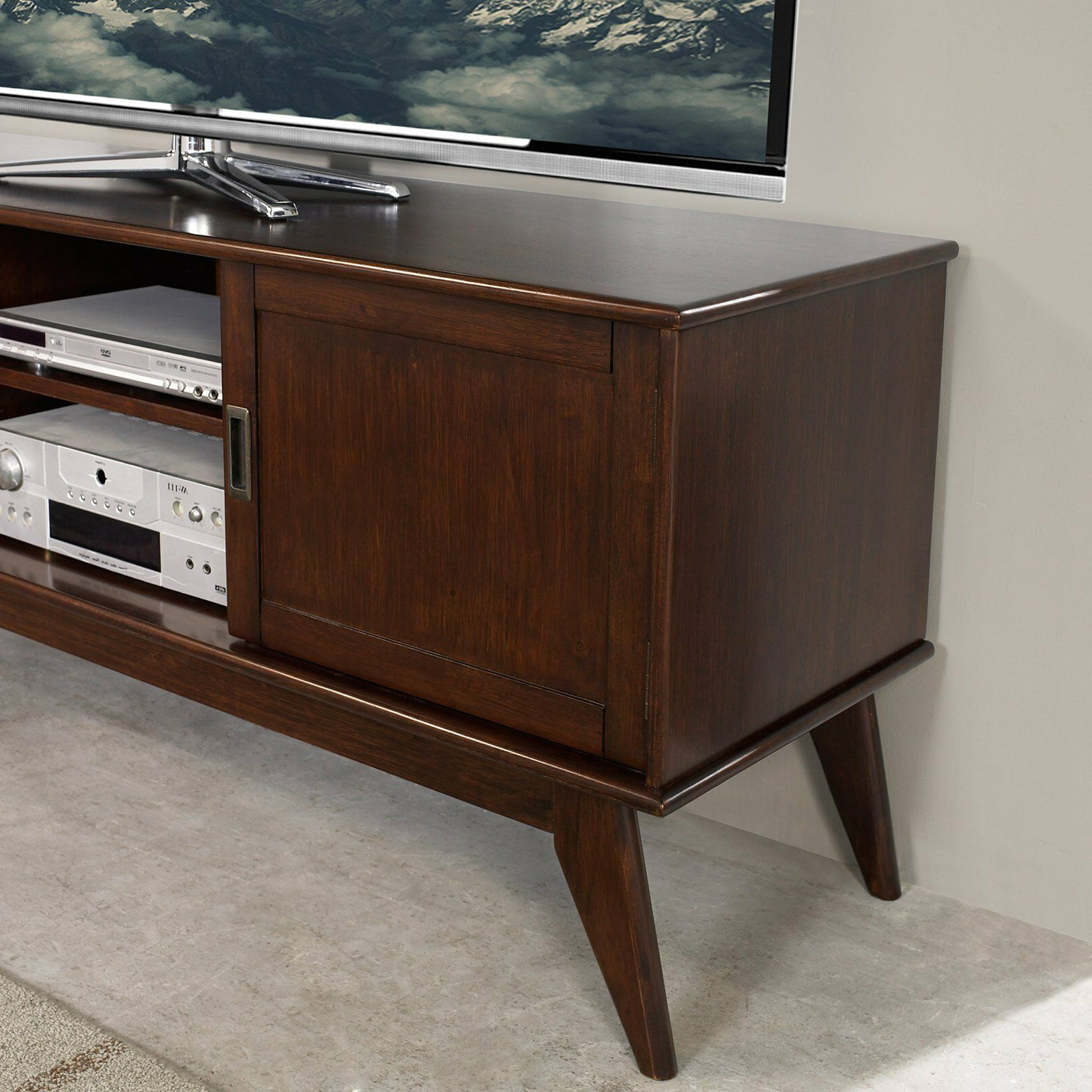 2018 Draper Mid Century Medium Tv Media Stand 60 – Simpli Home (View 2 of 20)