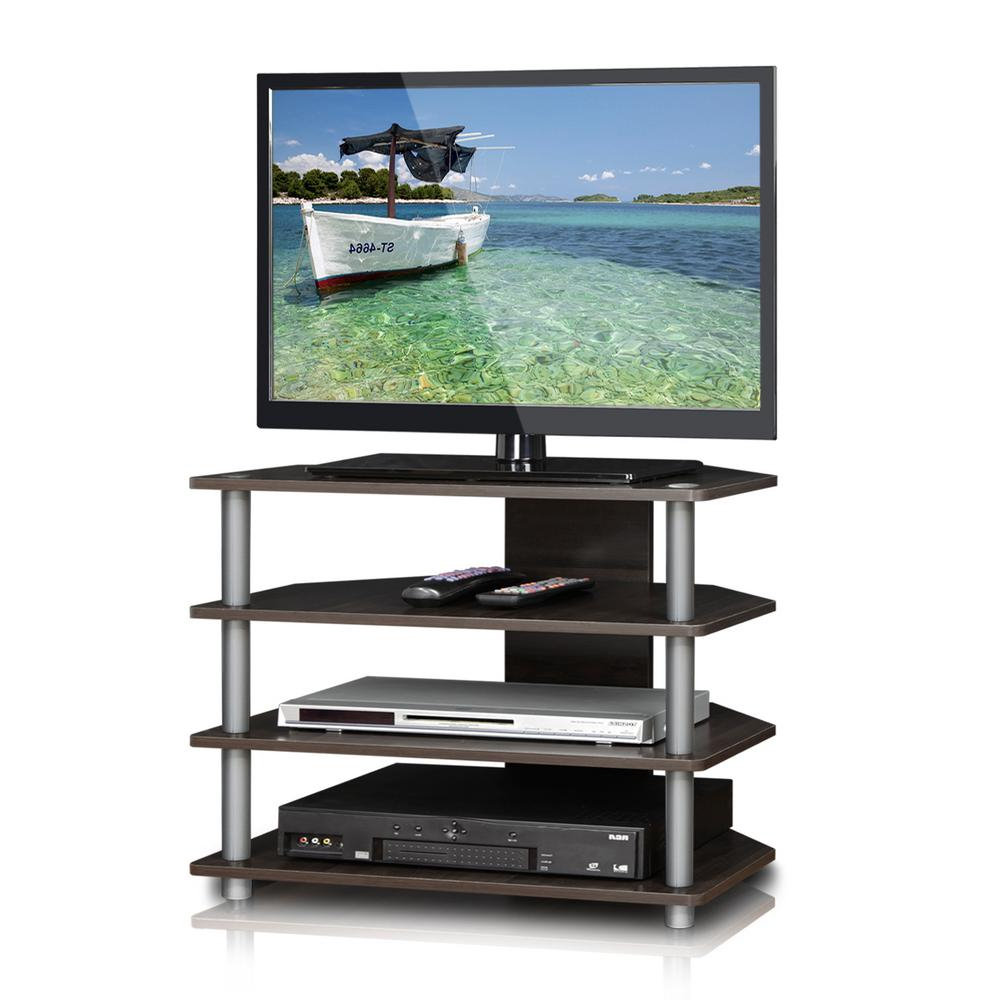 2018 Flat Screen Tv Stands Corner Units Pertaining To 4 Tier Tv Stand Corner Unit Flat Screen Entertainment With Shelves (View 1 of 20)