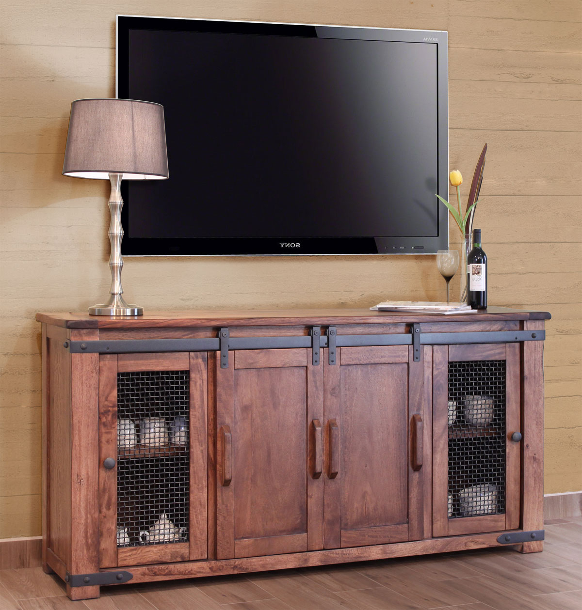 2018 Glass Tv Cabinets With Doors Pertaining To Tv Stands: Glass Tv Stand For 42 Inch Tv Catalogue Tv Stands With (View 1 of 20)