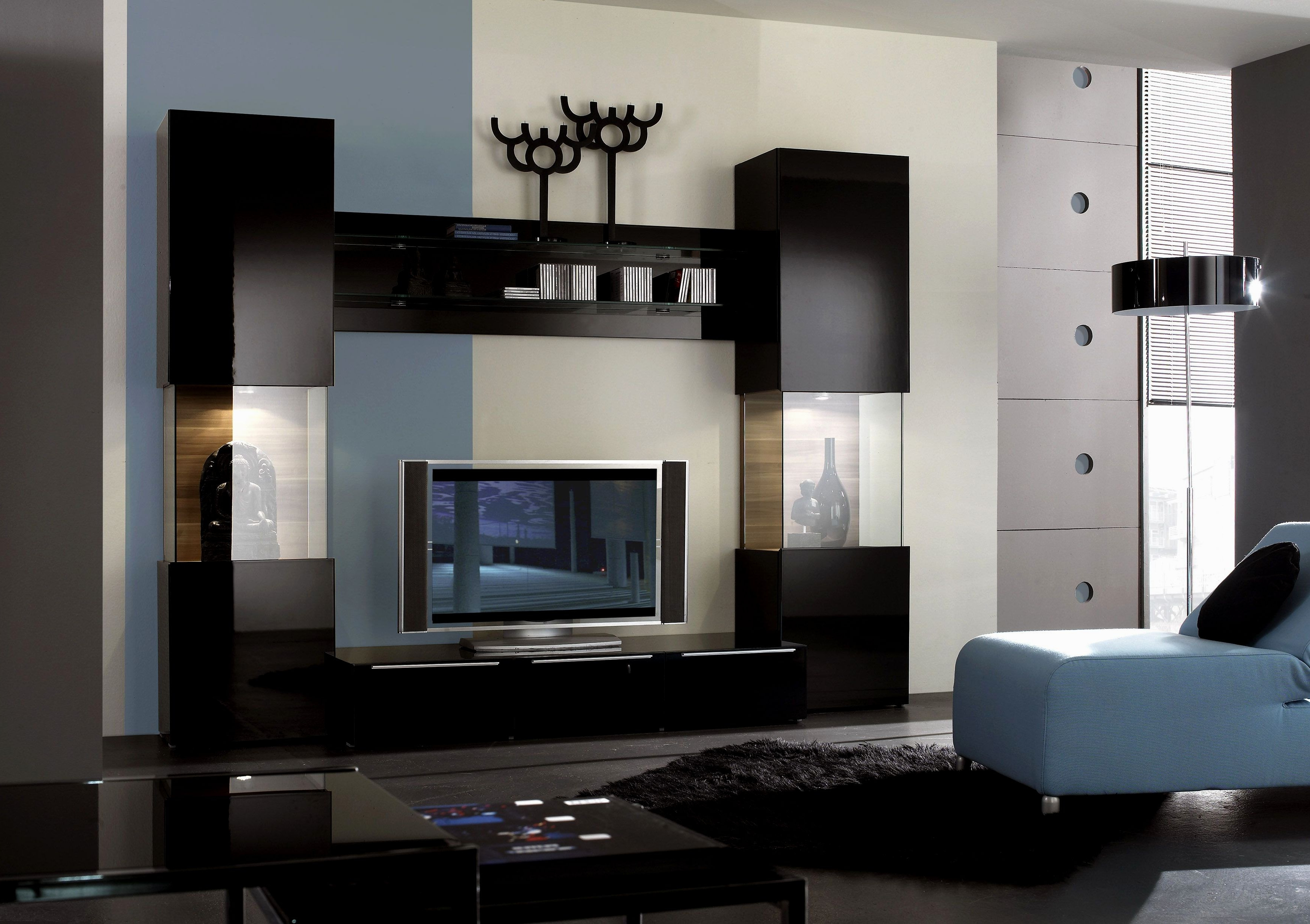 2018 Modern Style Tv Stands Regarding Modern Contemporary Espresso Brown Tv Stands Furniture Modani Wall (View 2 of 20)