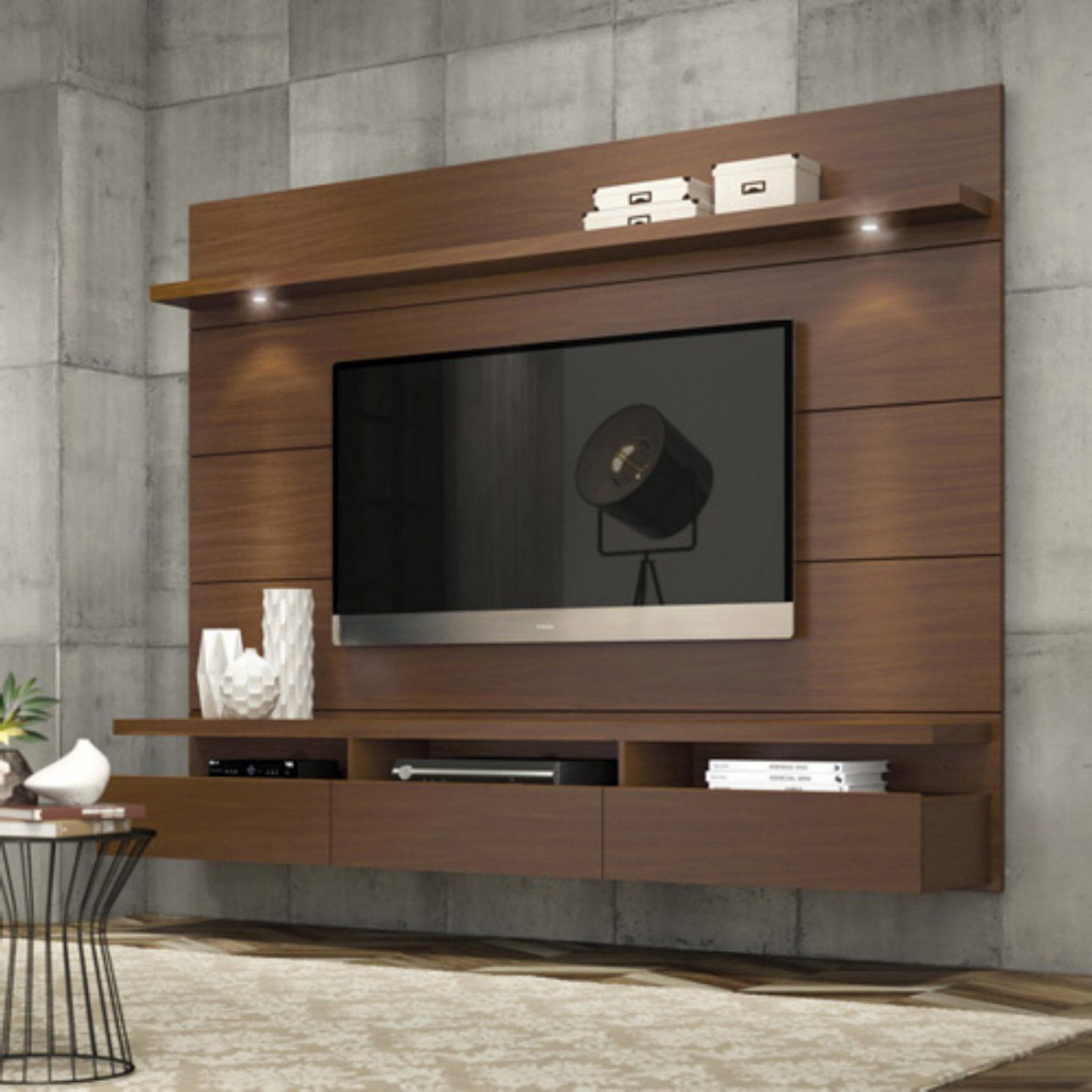 2018 Modern Tv Entertainment Centers Inside Entertainment Center Modern Tv Stand Media Console Wall Mounted (View 2 of 20)