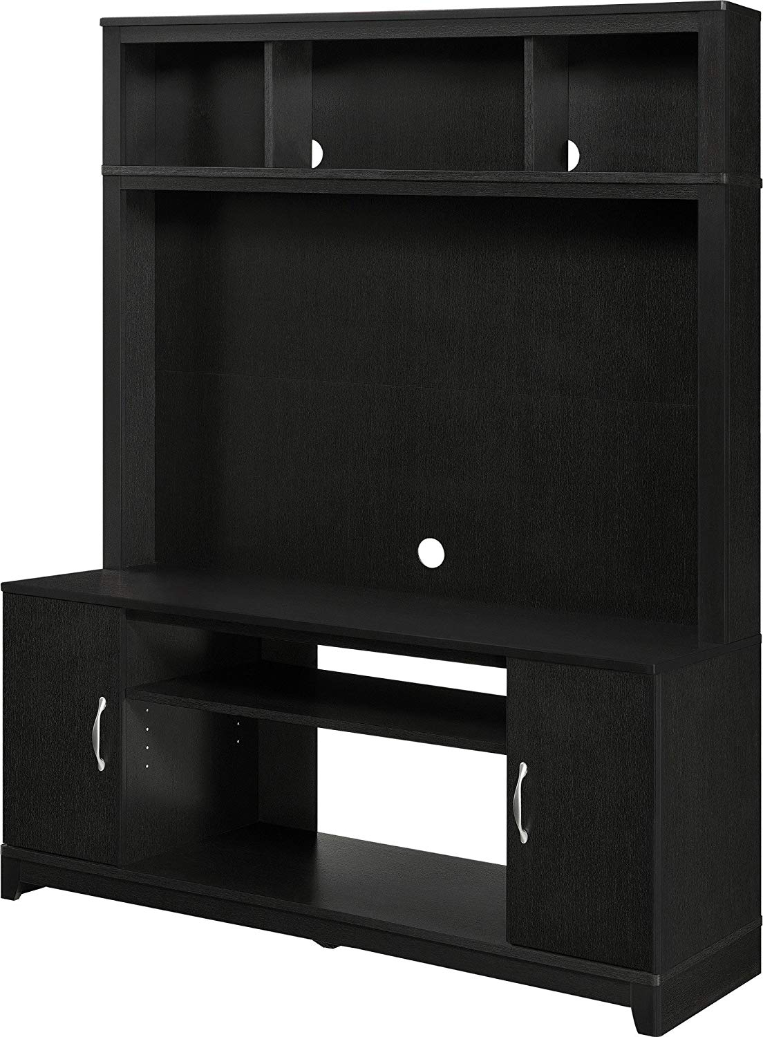 2018 Noah 75 Inch Tv Stands Throughout Amazon: Home Tv Stands Wood Entertainment Media Center For Flat (View 2 of 20)