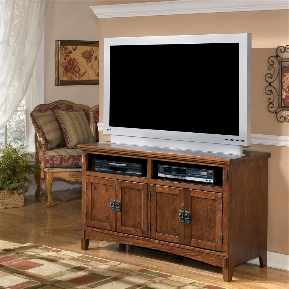 2018 Oak Furniture Tv Stands Pertaining To Ashley Furniture Cross Island W319 28 50 Inch Oak Tv Stand With (Gallery 12 of 20)