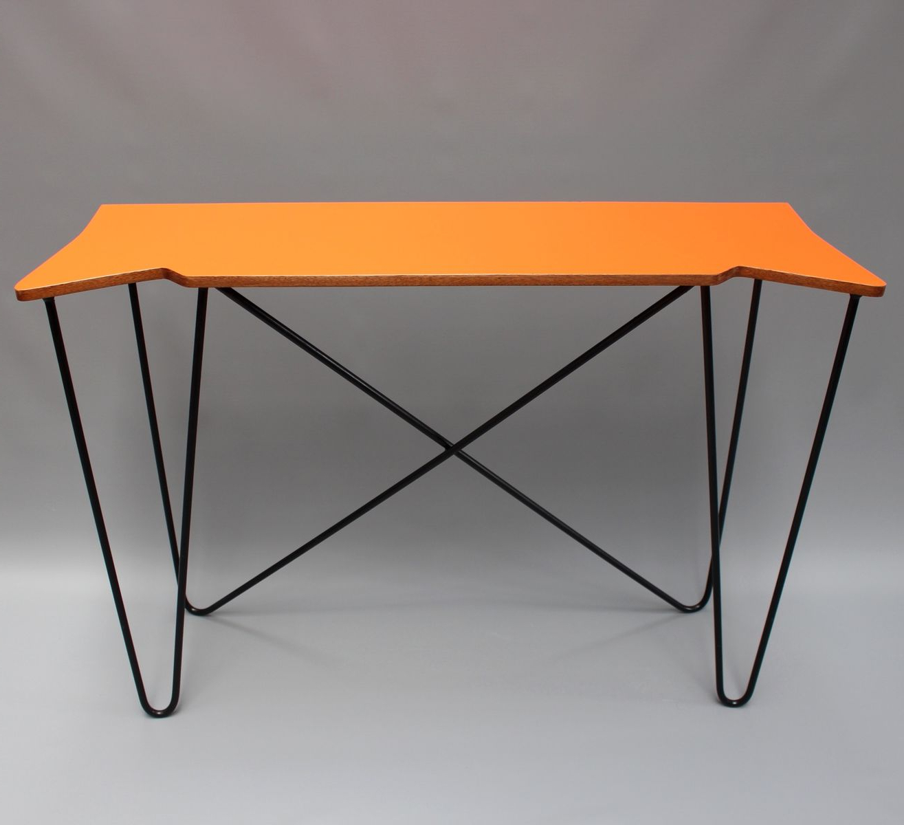 2018 Orange Inlay Console Tables With Regard To Vintage Orange Console Table 1980S For Sale At Pamono Bone Inlay (Gallery 2 of 20)