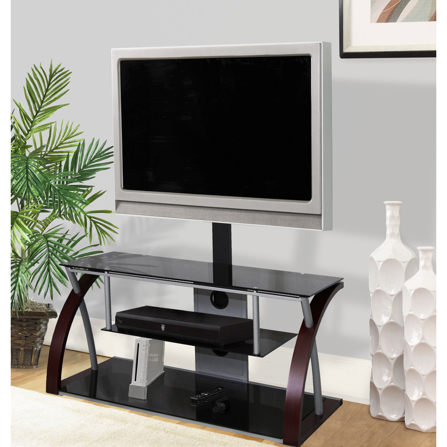 "2018 Plasma Tv Stands With Hazelwood Home Plasma Tv Stand For Tvs Up To 55"" & Reviews (View 2 of 20)"