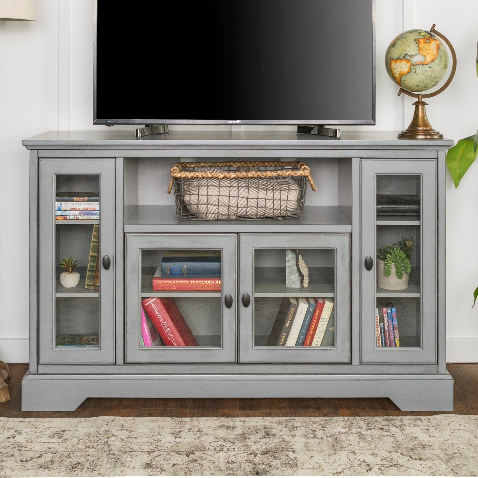 "2018 Shop 52"" Highboy Tv Stand Console – 52 X 16 X 33H – Free Shipping Pertaining To Century Sky 60 Inch Tv Stands (Gallery 9 of 20)"