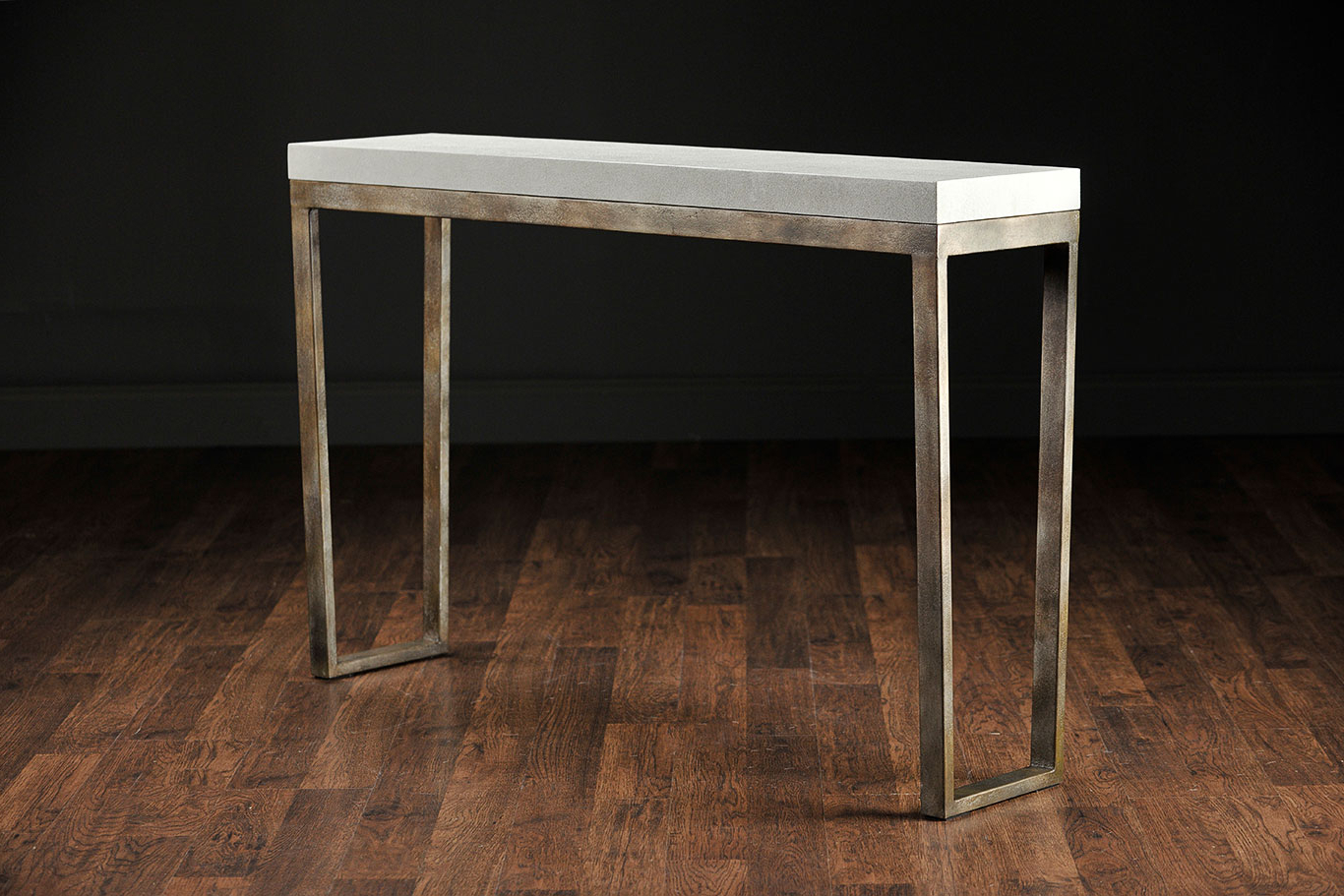 2018 Slim Shagreen Console Table : Console Table – Shagreen Console Table Pertaining To Faux Shagreen Console Tables (Gallery 7 of 20)
