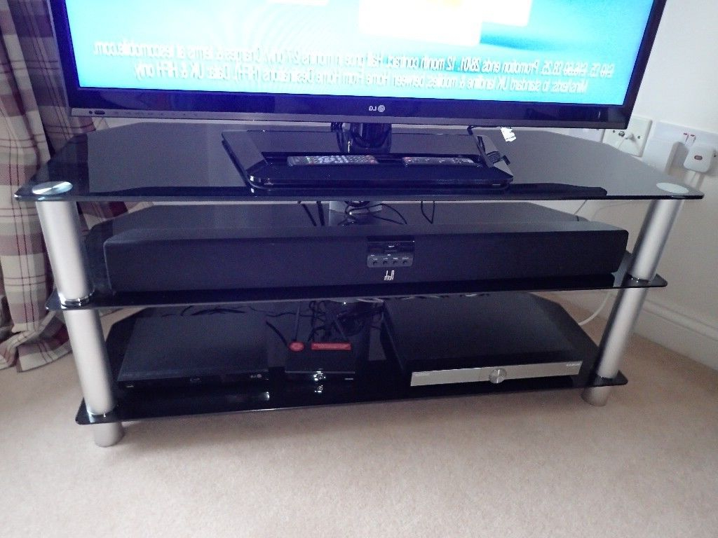 2018 Tv Stand Tempered Glass (Richer Sounds) Perfect Condition (View 1 of 20)