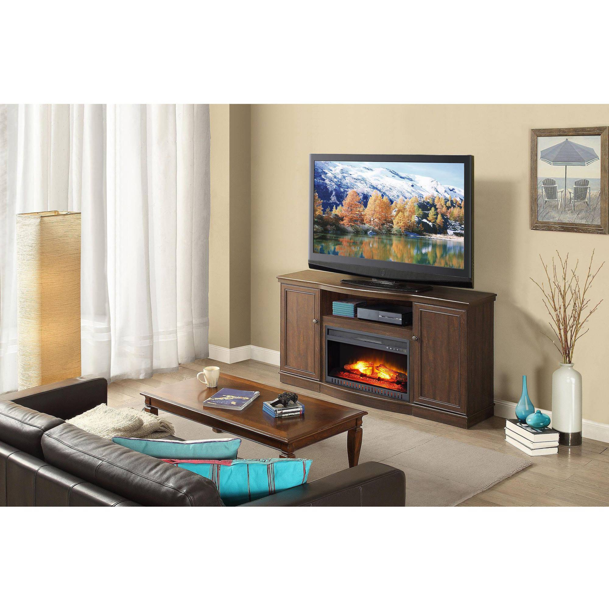 2018 Whalen Media Fireplace For Your Home Television Stand Fits Tvs Up To Inside Walton 72 Inch Tv Stands (View 3 of 20)