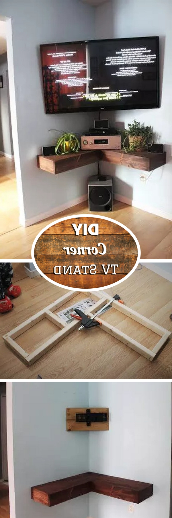 21+ Diy Tv Stand Ideas For Your Weekend Home Project Intended For Fashionable Triangular Tv Stands (View 15 of 20)