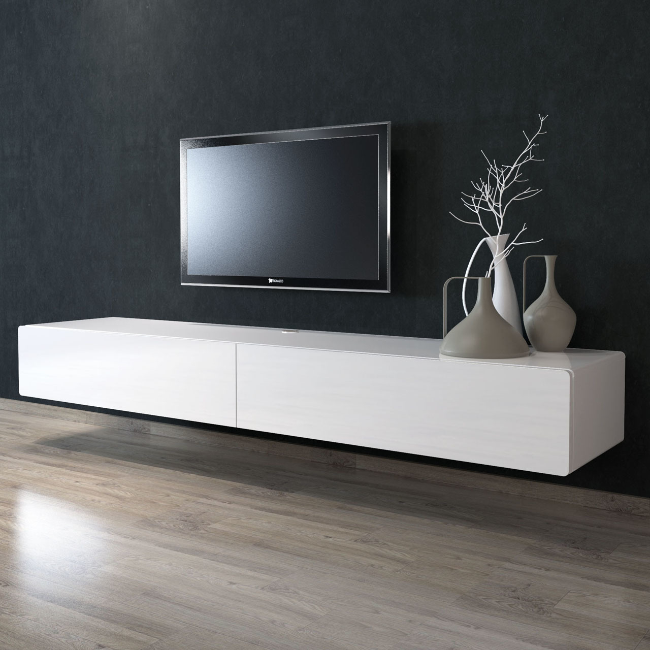 220cm Floating Tv Unit – Gainsville (View 2 of 20)