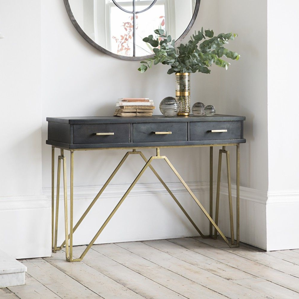 27 Gorgeous Entryway – Entry Table Ideas Designed With Every Style With Most Recently Released Natural Wood Mirrored Media Console Tables (Gallery 4 of 20)
