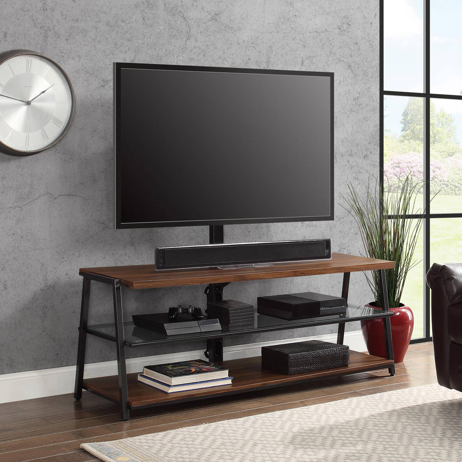3 In 1 Tv Stand 70 Inch Flat Screen Entertainment Media Home Center Regarding 2017 Tv Stands For 70 Flat Screen (View 2 of 20)