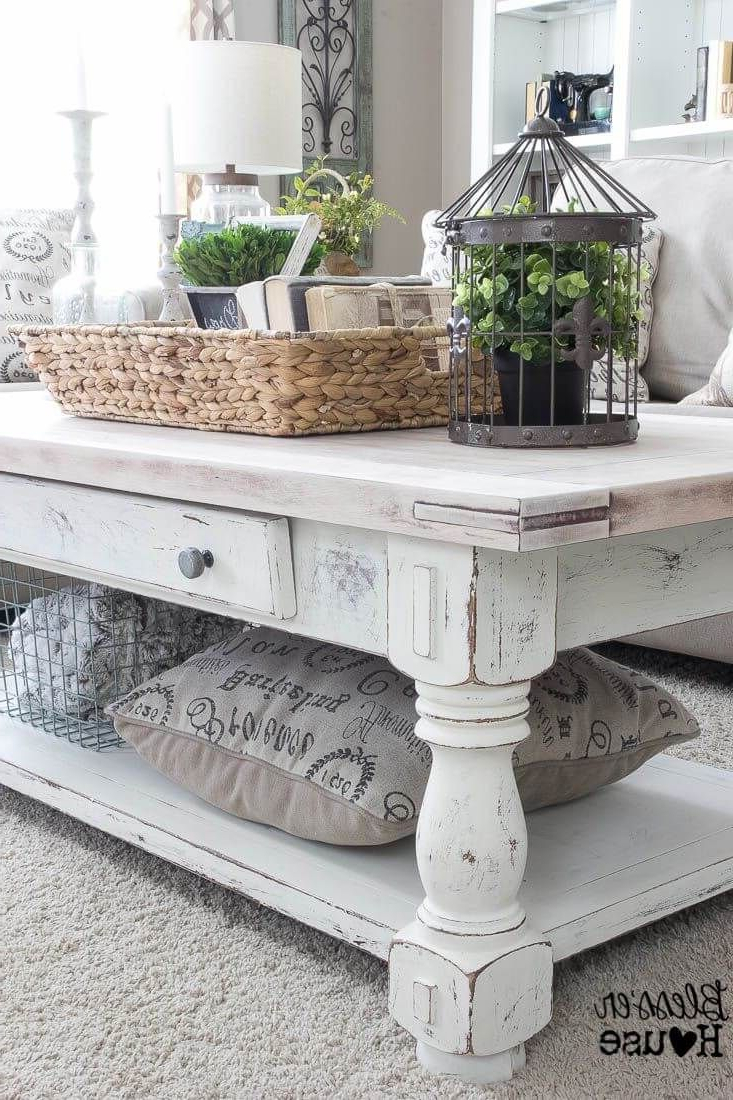 37 Coffee Table Decorating Ideas To Get Your Living Room In Shape With Regard To Newest Hand Carved White Wash Console Tables (Gallery 20 of 20)