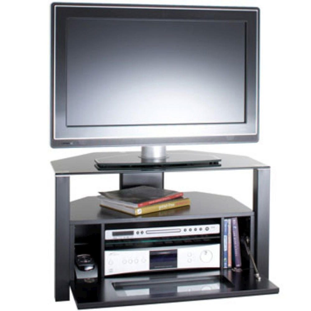37 D Shaped Enclosed Tv Cabinet, Black (View 1 of 20)