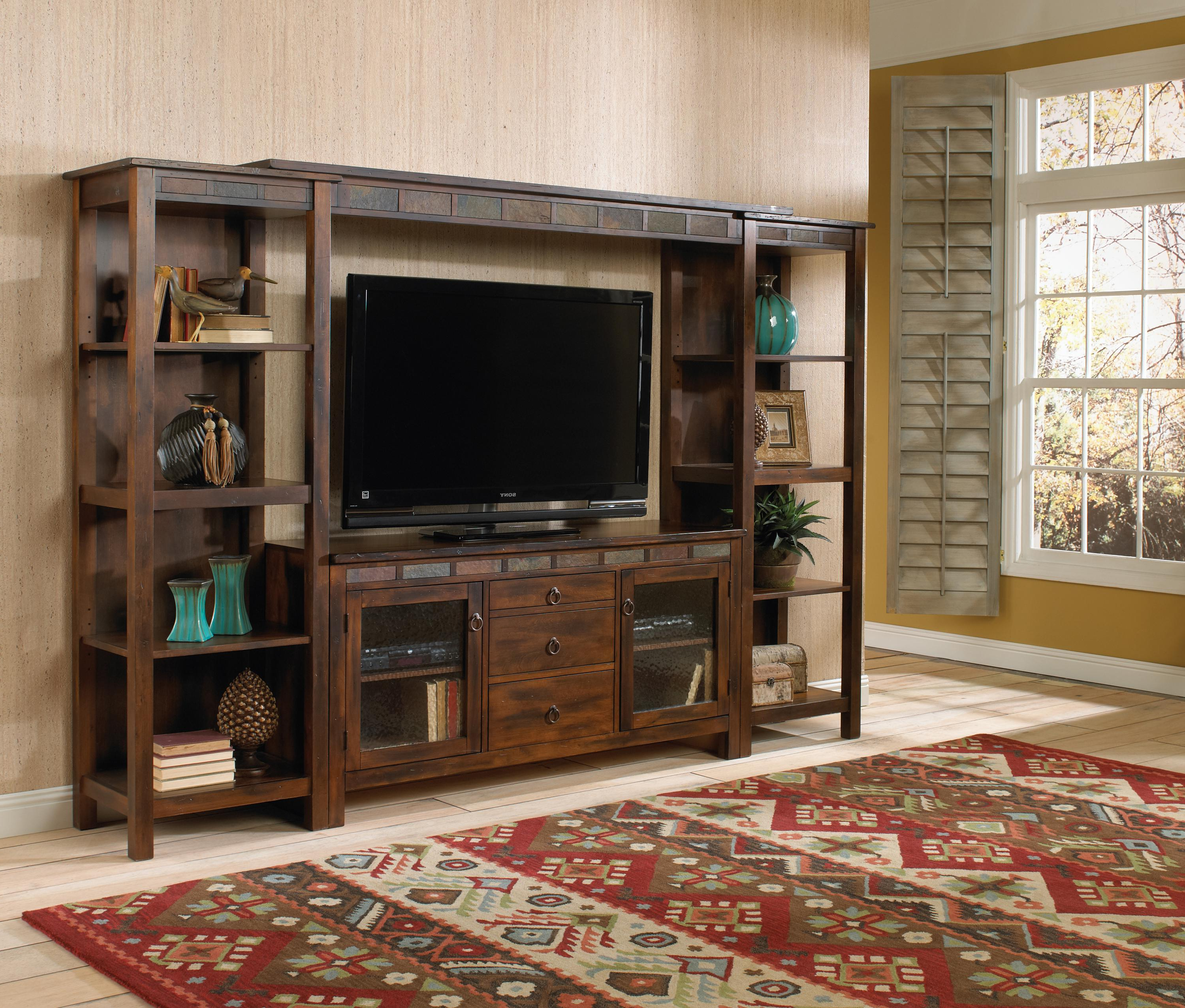 60 Inch Tv Wall Units With 2018 Santa Fe (Dc)Sunny Designs – Powell's Furniture And Mattress (Gallery 18 of 20)