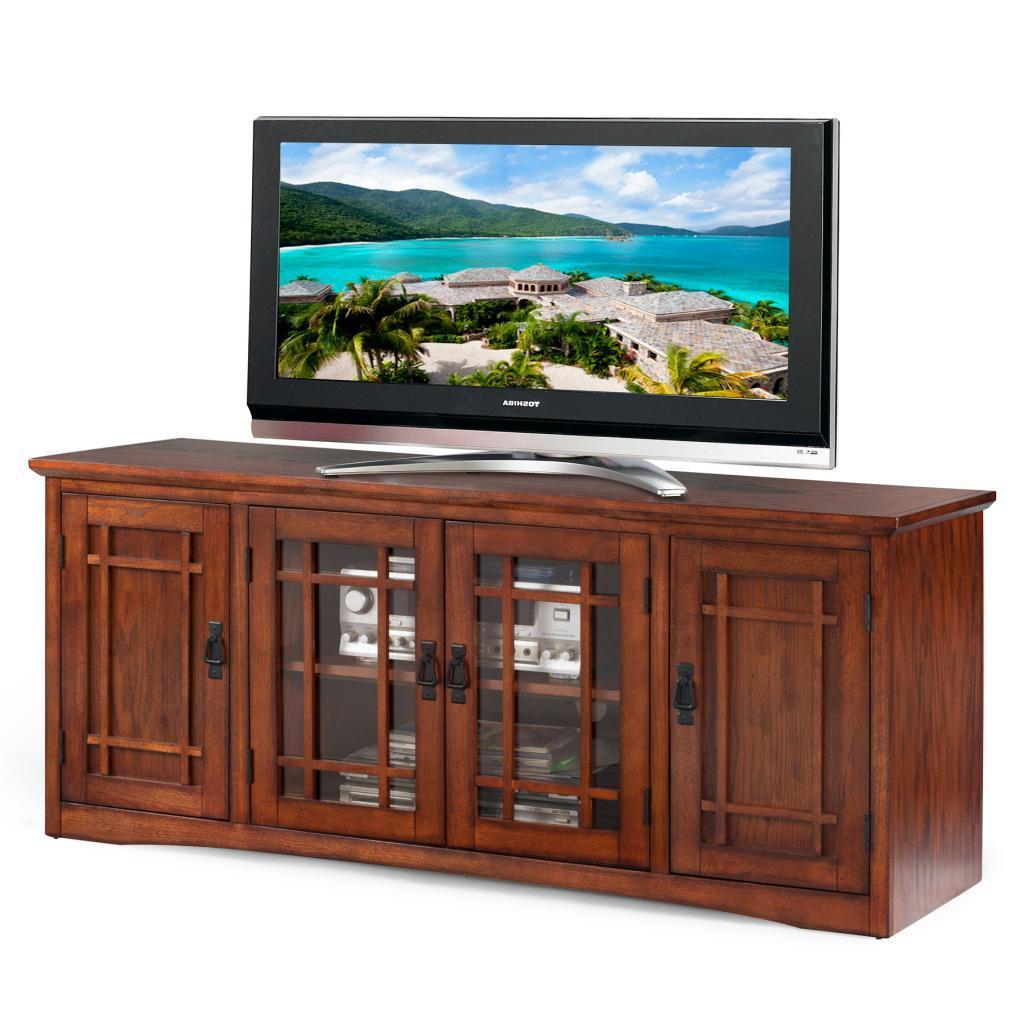 61 Inch Tv Stands Pertaining To Popular Mission Oak Hardwood 60 Inch Tv Stand – Walmart (View 3 of 20)