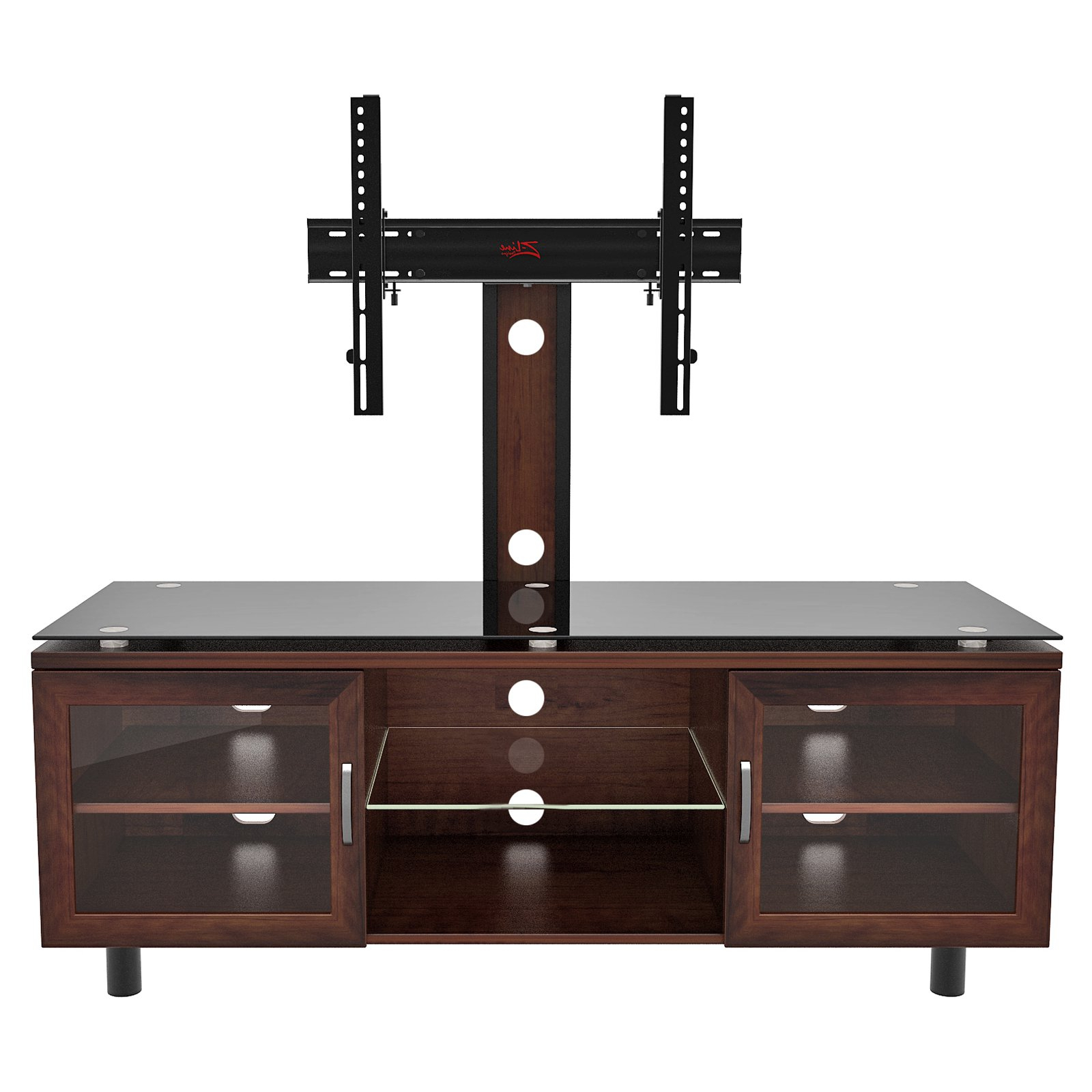 "65 Inch Tv Stands With Integrated Mount Regarding Most Up To Date Positano Tv Stand With Integrated Mount For Tvs Up To 70"", Espresso (View 5 of 20)"