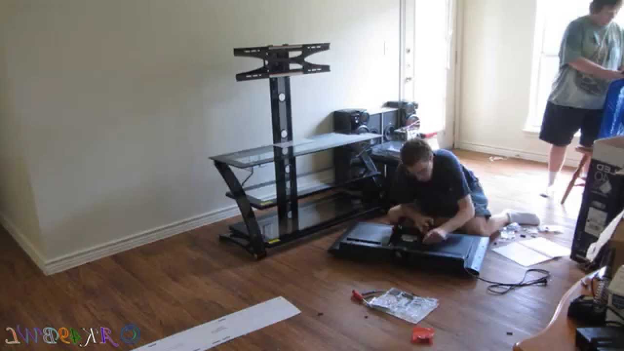65 Inch Tv Stands With Integrated Mount Regarding Newest Z Line Designs Entertainment Center Build – Youtube (Gallery 19 of 20)