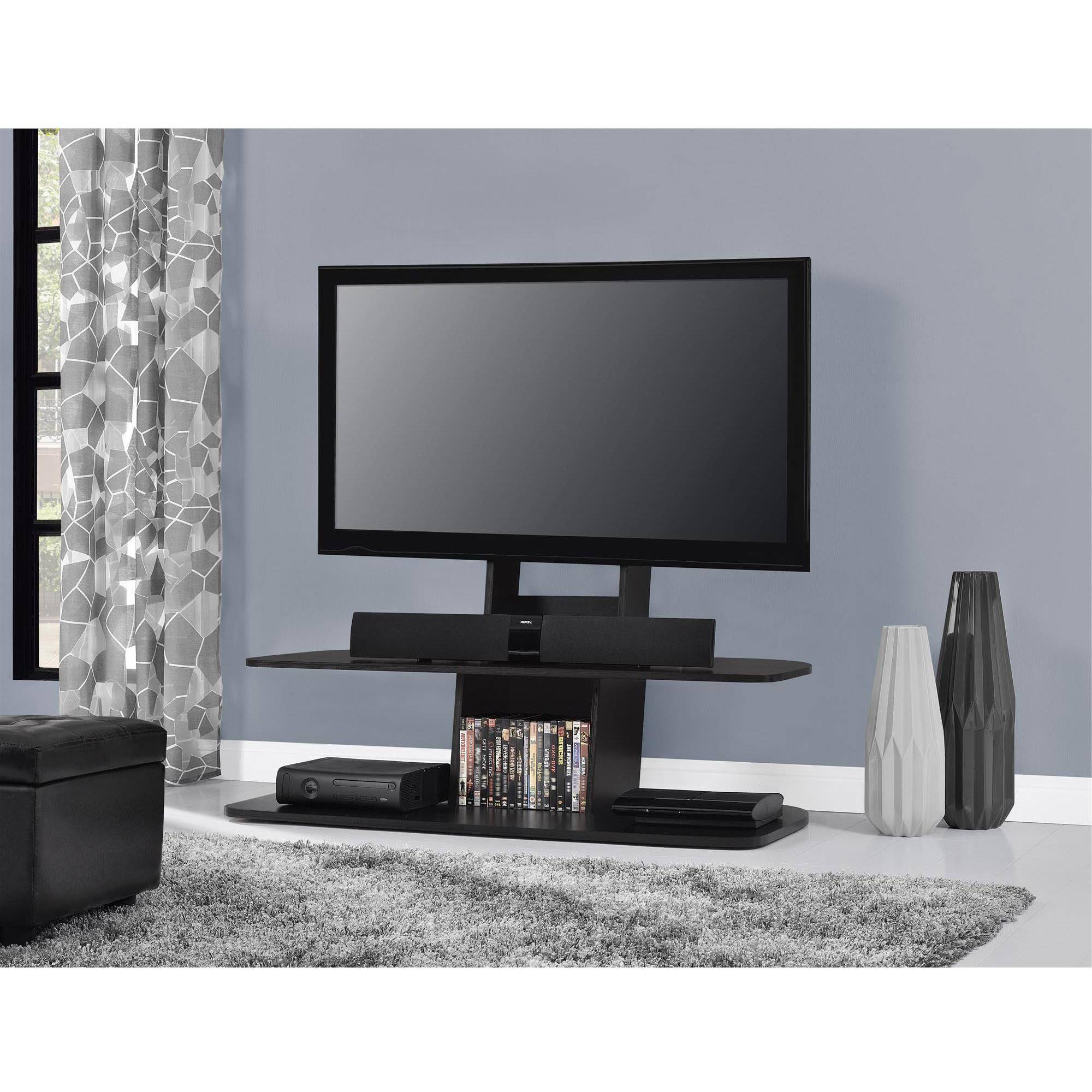 "65"" Tv Stand Ameriwood Home Galaxy With Mount For Tvs Up To 65 Wide In Current 65 Inch Tv Stands With Integrated Mount (View 8 of 20)"