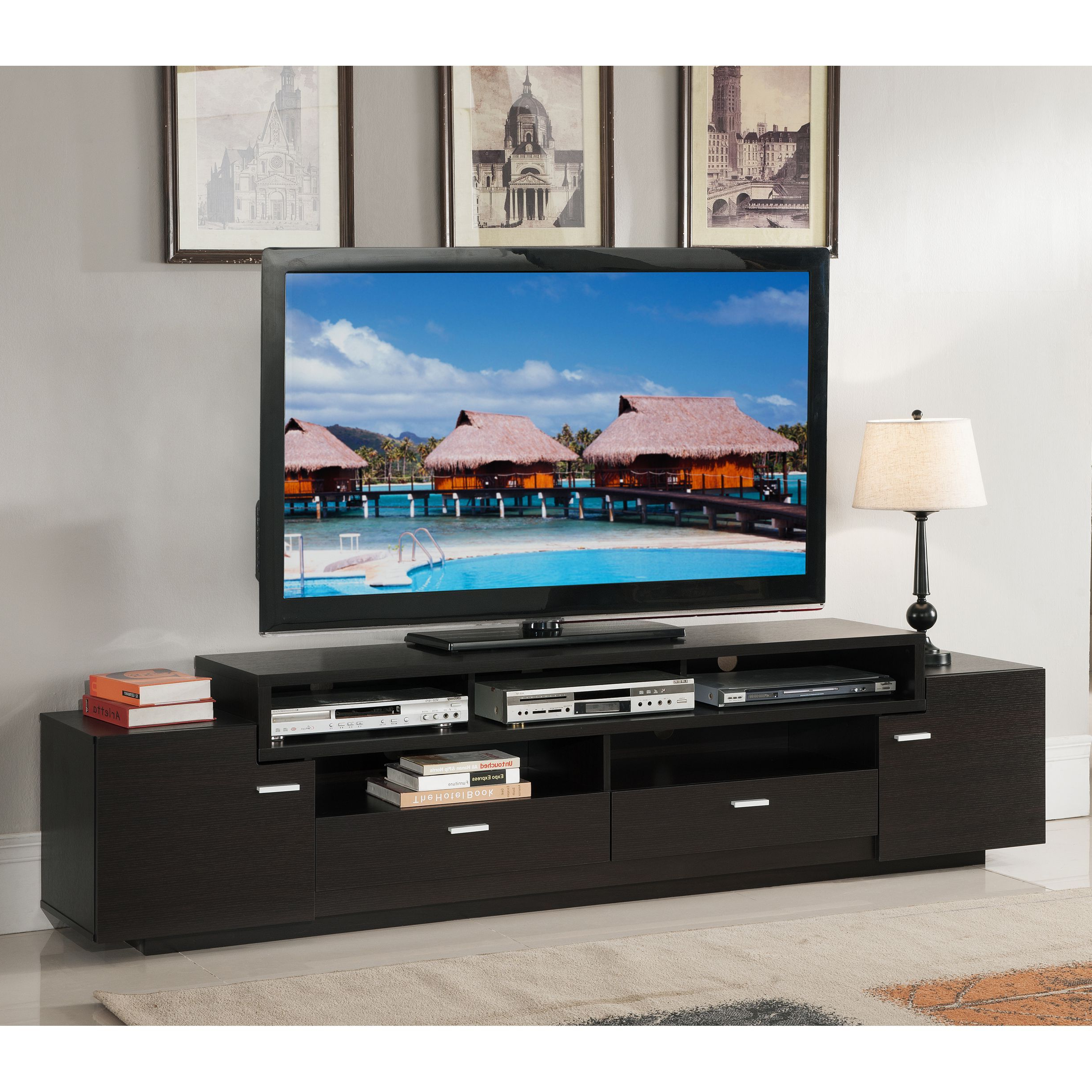84 Inch Tv Stands In Best And Newest Available In Two Finishes, This 84 Inch Tv Stand Is A Sure Fit For (View 5 of 20)