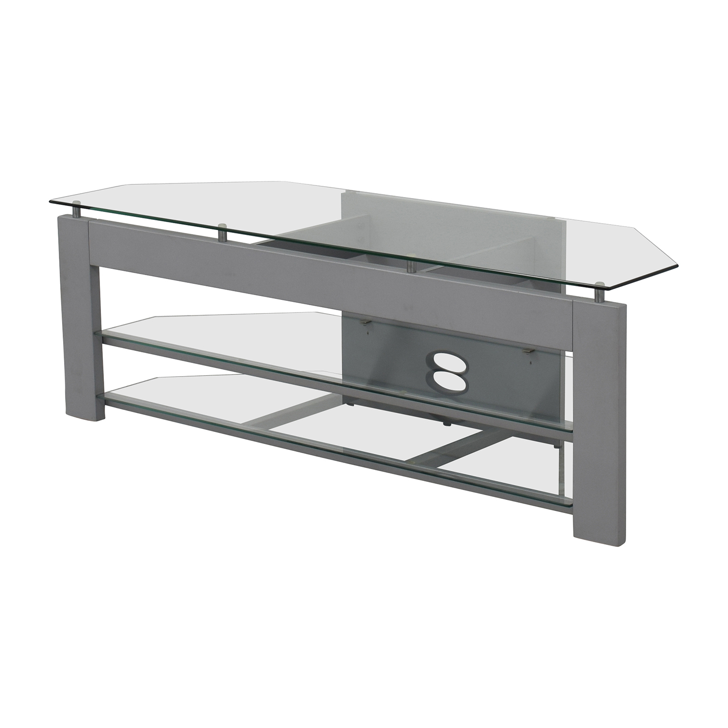 [%87% Off – Silver And Glass Tv Stand / Storage For Favorite Glass Tv Stands|glass Tv Stands With Best And Newest 87% Off – Silver And Glass Tv Stand / Storage|latest Glass Tv Stands With 87% Off – Silver And Glass Tv Stand / Storage|well Known 87% Off – Silver And Glass Tv Stand / Storage With Glass Tv Stands%] (View 16 of 20)