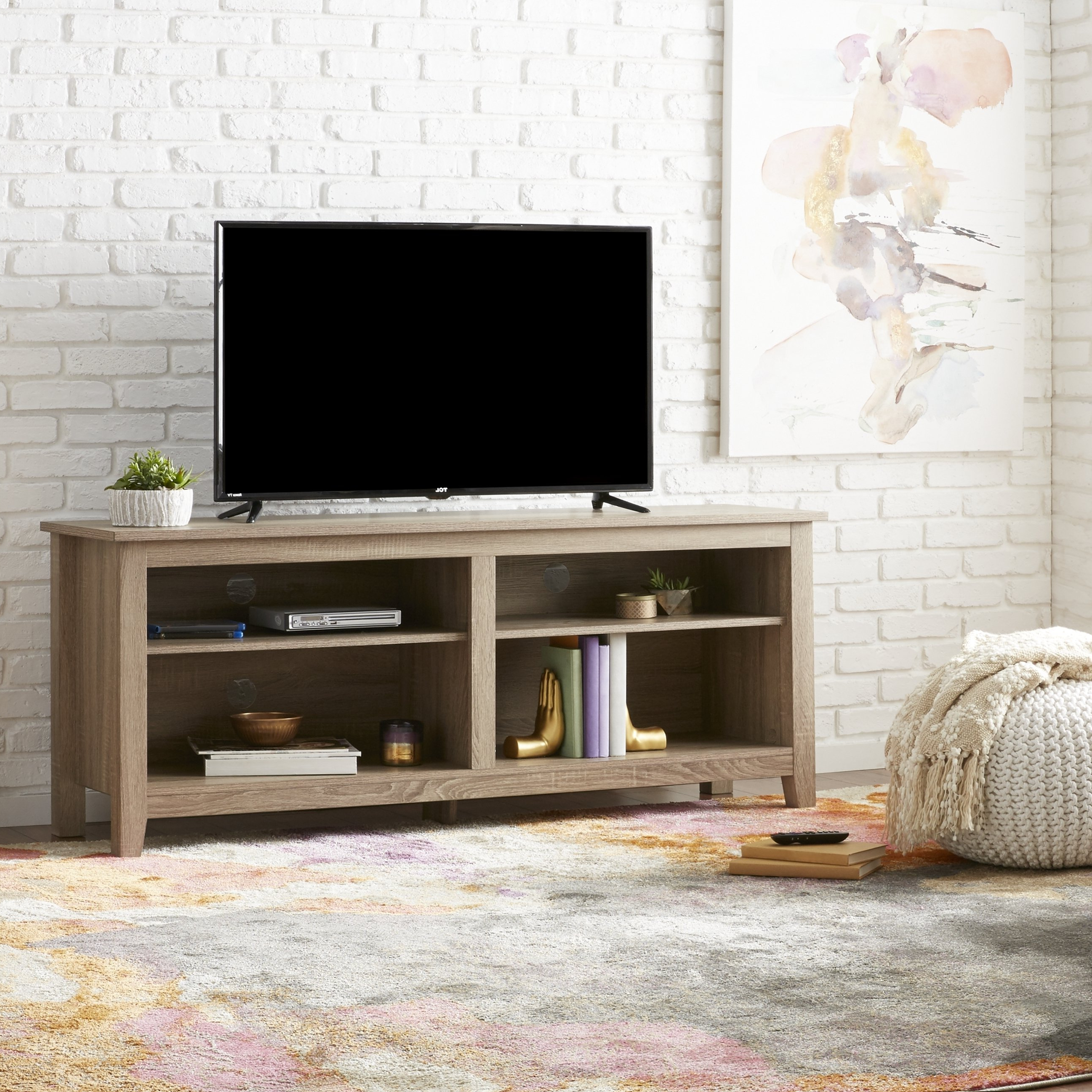 Abbott Driftwood 60 Inch Tv Stands For Fashionable Shop 58 Inch Driftwood Tv Stand – Free Shipping On Orders Over $ (View 4 of 20)