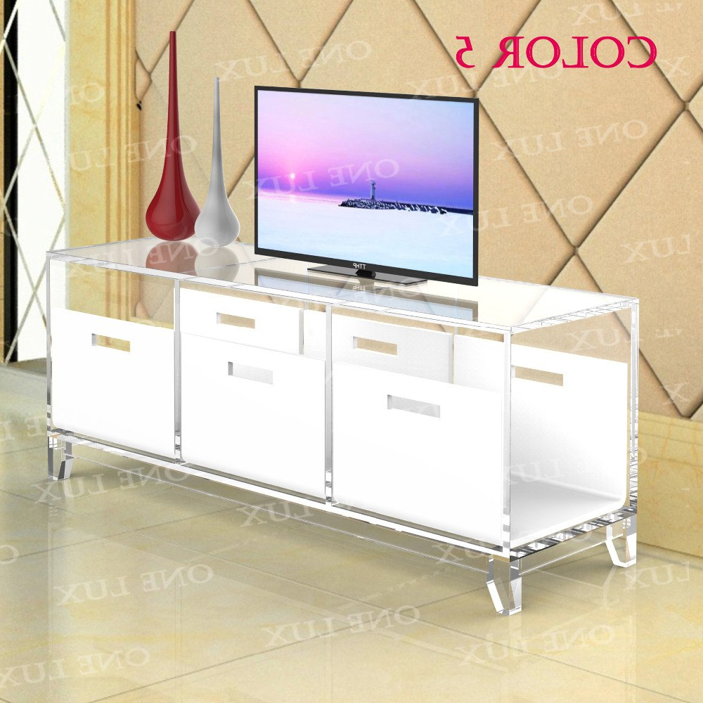 Acrylic Tv Stand Table,luite Cabinet With Removable Trays,perspex In Trendy Acrylic Tv Stands (Gallery 17 of 20)