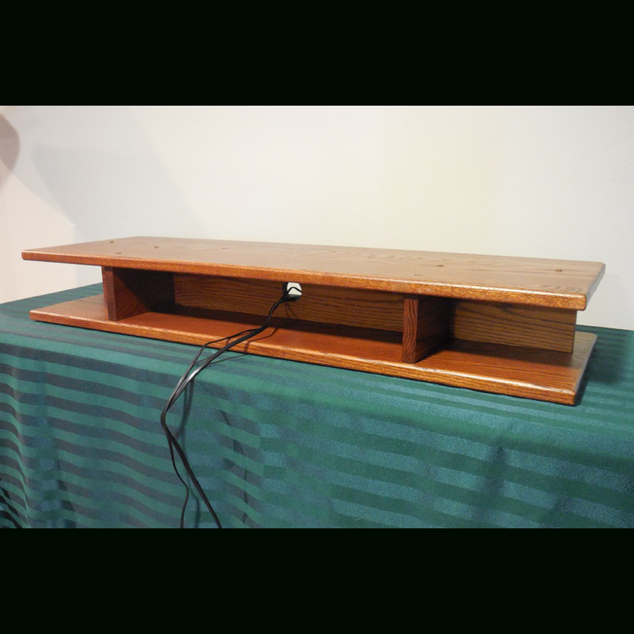 Acrylic Tv Stands Risers Flat Screen Oak Riser For Sound Bar The For 2017 Tv Riser Stand (View 3 of 20)