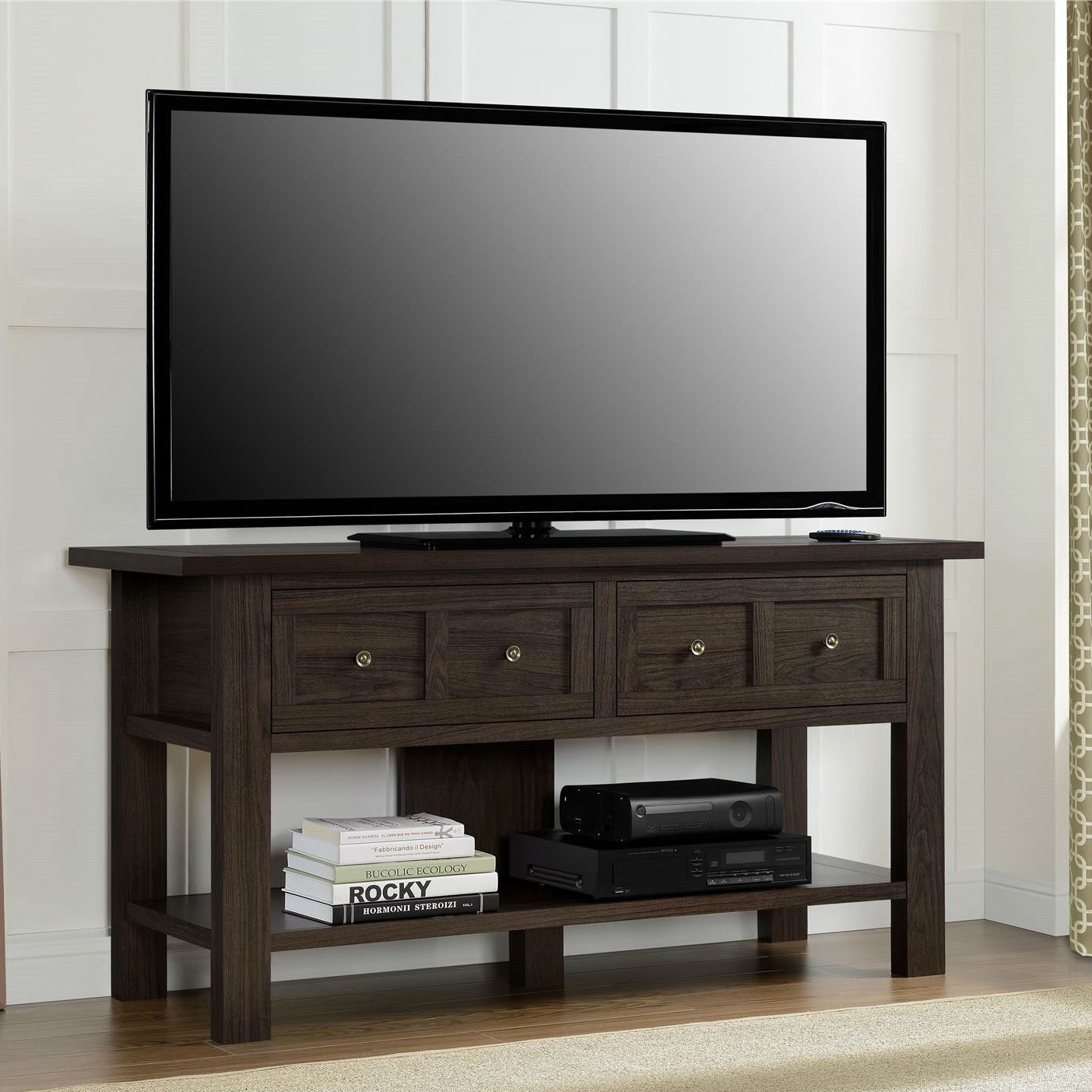 Add A Warm Touch To Any Room With This Classic 55 Inch Tv Stand With Regard To 2017 Classic Tv Stands (View 1 of 20)