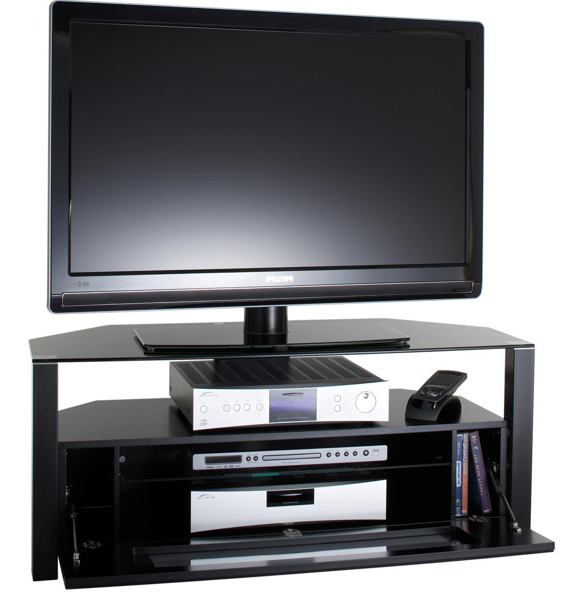 Alphason Abrd1100 Blk Tv Stands Inside Best And Newest Techlink Bench Corner Tv Stands (Gallery 20 of 20)